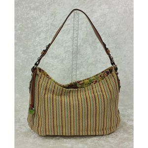 Vgt Fossil Classic Colorful Woven Shoulder Bag